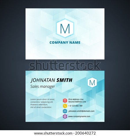Business card vector background - stock vector