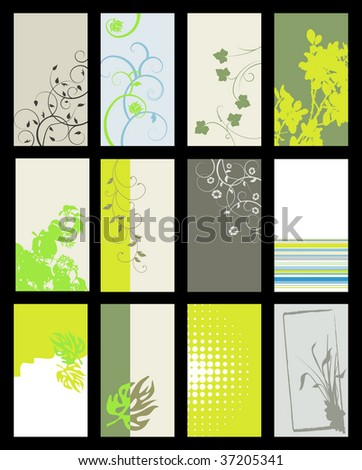 Business card - vector collection - stock vector