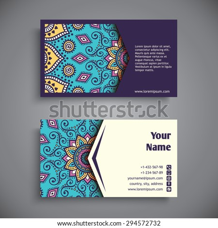 Business card vintage decorative elements ornamental stock vector business card vintage decorative elements ornamental floral business cards oriental pattern vector reheart Choice Image