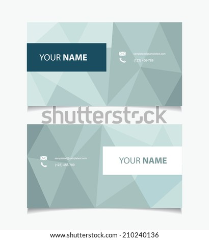 Business card with geometric elements - vector illustration - stock vector