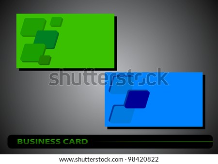 business card with the diamonds on a colored background