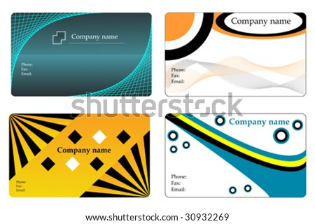 Business cards - stock vector