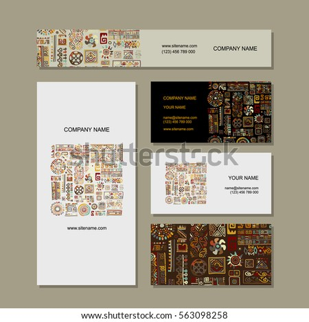 Business cards design ethnic handmade ornament stock photo photo business cards design ethnic handmade ornament reheart Gallery