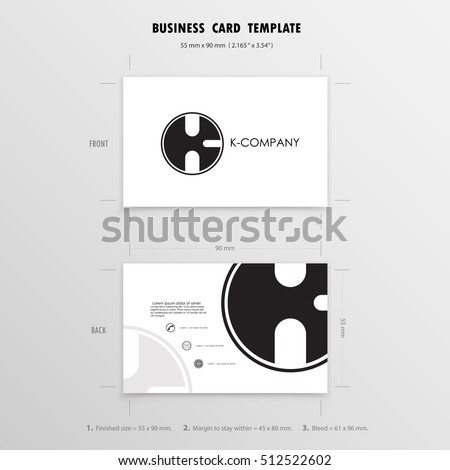 business cards design template name cards stock vector 512522602