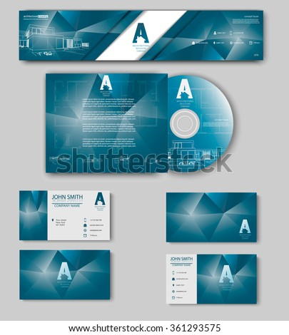 Business cards design blueprint sketch architectural stock vector business cards design with blueprint sketch for architectural company architectural background for architectural project malvernweather Gallery