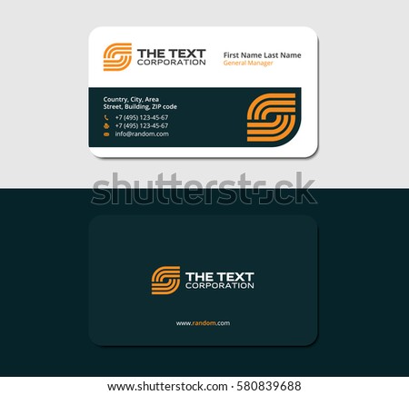 Business cards electricity yellow color two stock vector 580839688 business cards electricity yellow color two sided card reheart Image collections