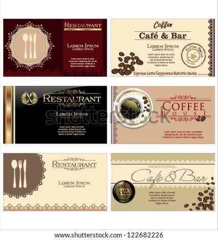 Restaurant stationary brochure design flyer design stock for Cafe brochure design