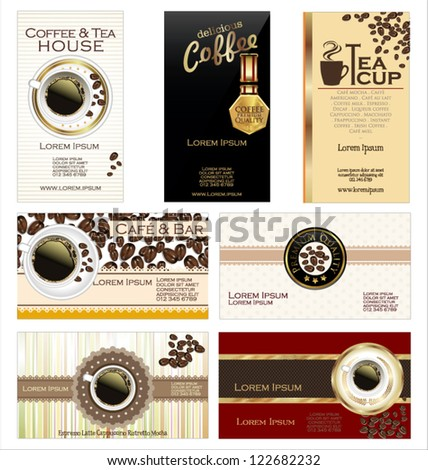 Business cards for cafe and restaurant - stock vector