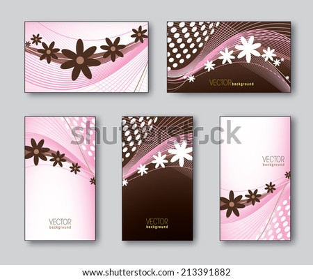 Business Cards or Gift Cards. Vector Collection.  - stock vector