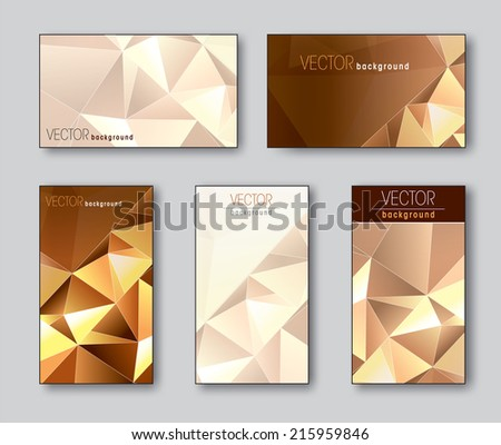 Business Cards or Gift Cards. Vector Collection of Five. - stock vector