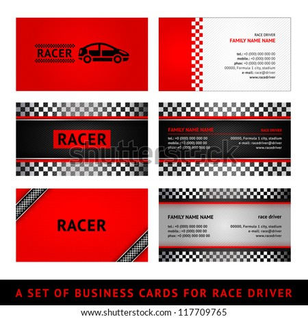 Business Cards Red Race