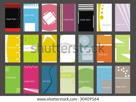 business cards (set 4) - stock vector