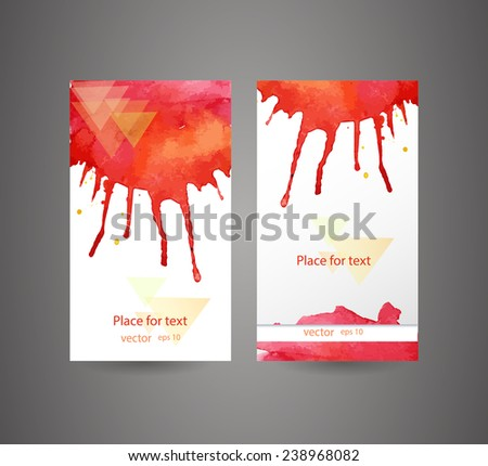 Innakotes bunners and business cards set on shutterstock business cards template watercolor design abstract spray paint colorful watercolor colourmoves