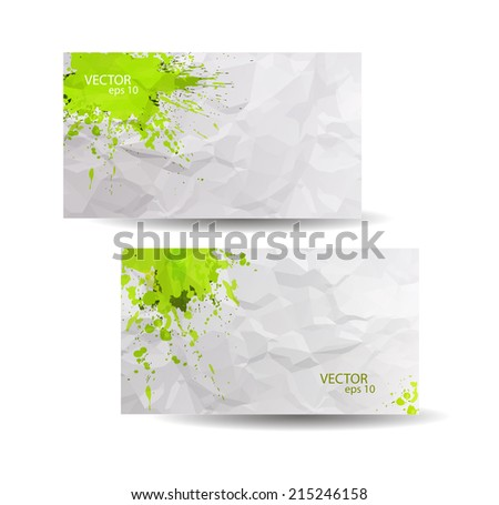 Business cards template yellow abstract spray stock vector 215246158 business cards template with yellow abstract spray paint crumpled paper background hand drawn colourmoves