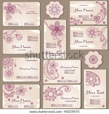 Business cards templates - stock vector