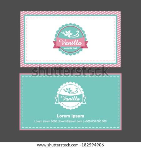 Business cards vanilla design - stock vector