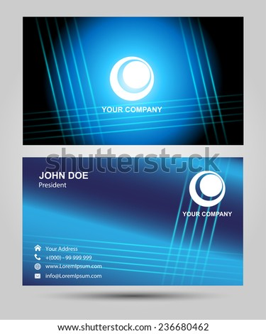 Business cards. Vector - stock vector