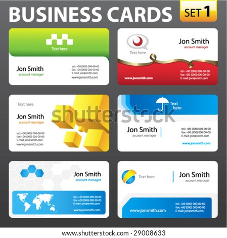 Business cards. Vector. - stock vector
