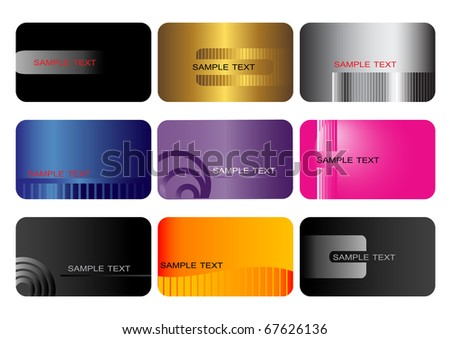 Business cards. vector illustration. - stock vector