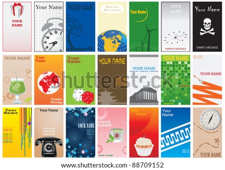 Business cards. Vector illustration for you design - stock vector