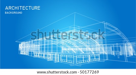 Business center in perspective view - stock vector