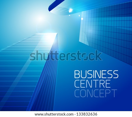 Business center vector background - stock vector