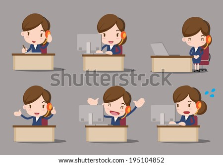 business character - customer service - stock vector