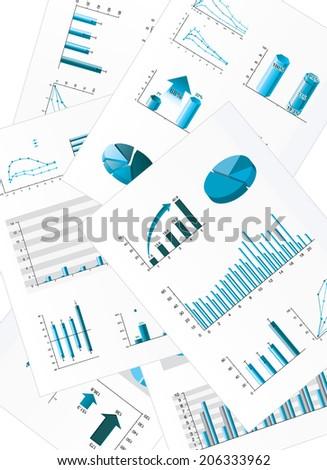 Business chart - stock vector