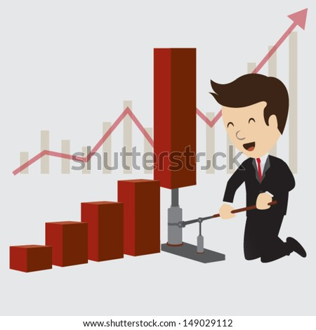 Business chart concepts. Vector - stock vector
