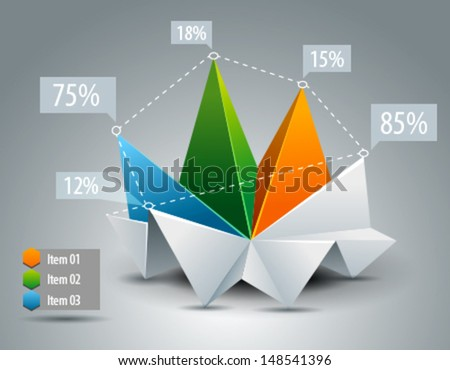 Business Chart diagram - stock vector
