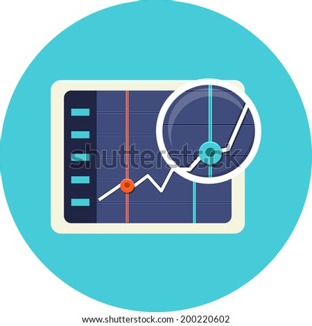 Business chart on the screen - stock vector