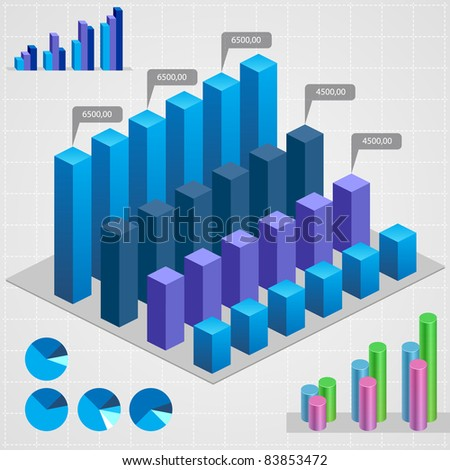 Business charts. Abstract business and industry web symbols