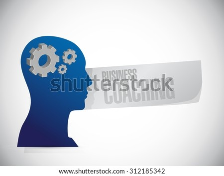 business coaching people mind sign concept illustration design graphic - stock vector