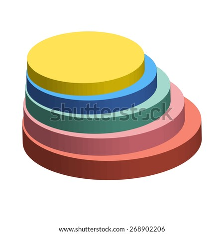 Business colorful graph / Pie 3d chart / Abstract 3D statistics background with pie chart / Business concept / EPS 10  - stock vector