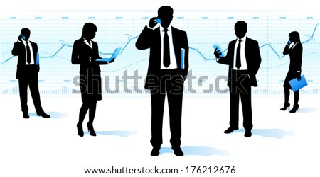 Business community - stock vector