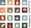 business company management icons retro style - stock vector