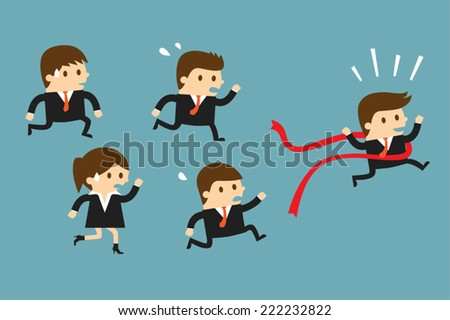 Business competition - stock vector