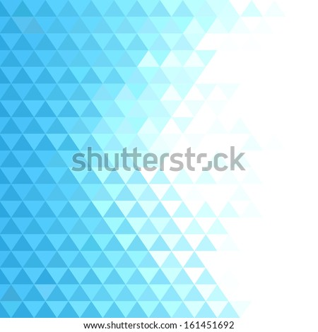 Business concept abstract geometric background with blue mosaic triangles - stock vector