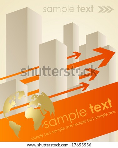 business concept background - vector illustration - stock vector