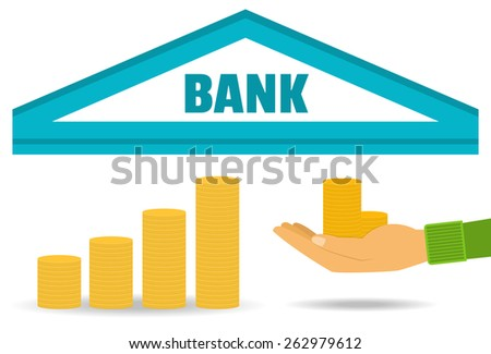 Business concept. Bank deposit, saving money, the accumulation of money. Vector. Flat style. - stock vector