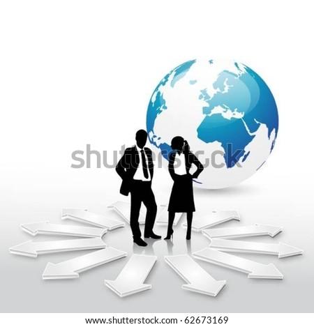 business concept design - stock vector