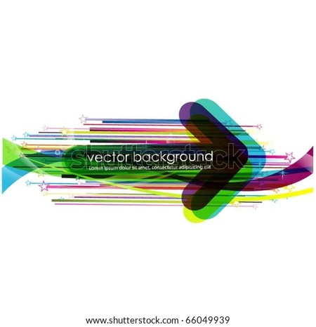 business concept design with arrow - stock vector