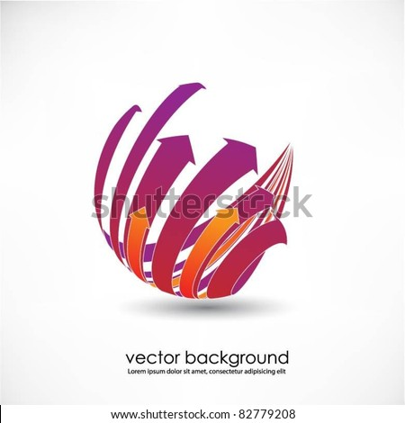 business concept design with arrows - stock vector