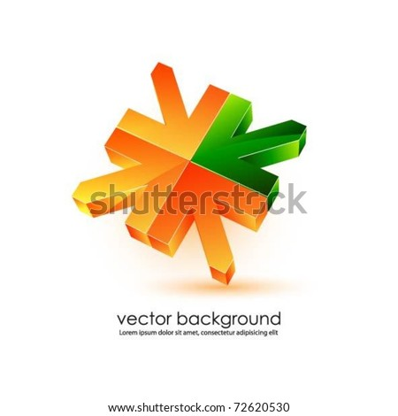 business concept design with 3d arrows - stock vector