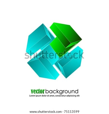 business concept design with 3d arrows-vector - stock vector