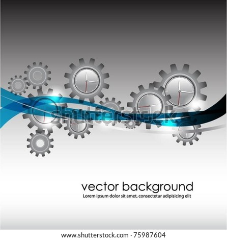 business concept design with gears-vector - stock vector