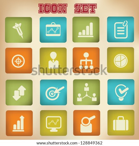 Business concept,icon set,vector - stock vector