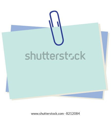 Business concept: Illustration of note paper - stock vector