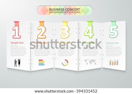 Business concept infographics. Vector illustration. can be used for workflow layout, diagram, number options, graphic or website layout. - stock vector