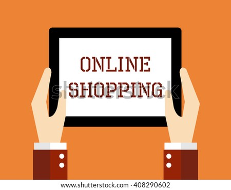 Business concept, Online shopping. - stock vector